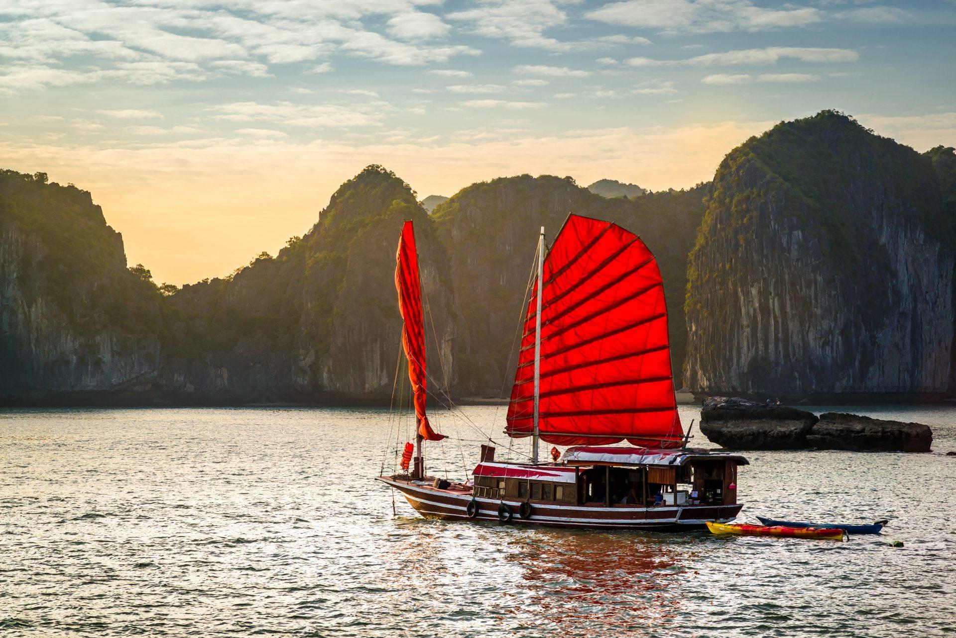 The wonderful Halong Bay, Unesco world heritage in Vietnam